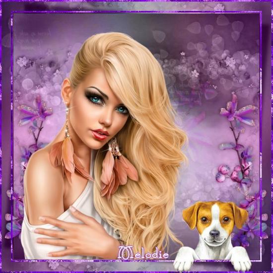 Femme belle chevelure
