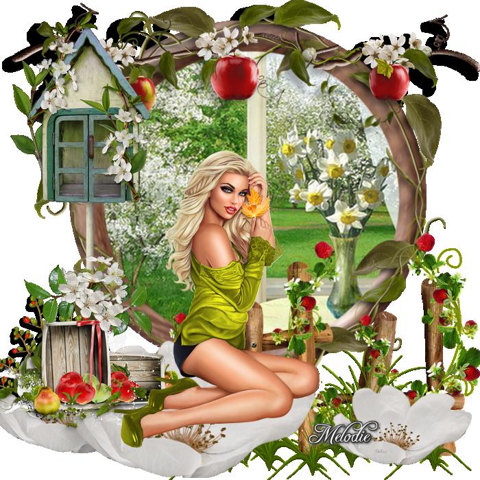 Joli pomme femme